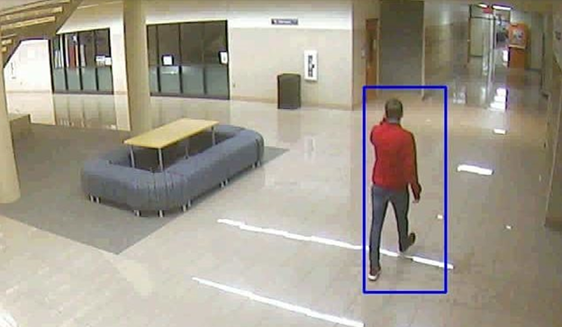 Computer Vision service detecting a person