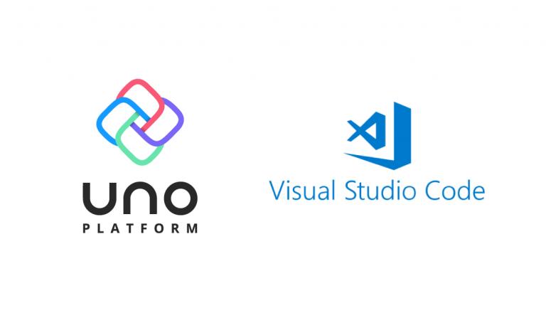 UnoPlatform and Visual Studio Code logos